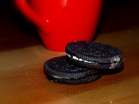 Doppelter Oreo an Sonntagskaffee