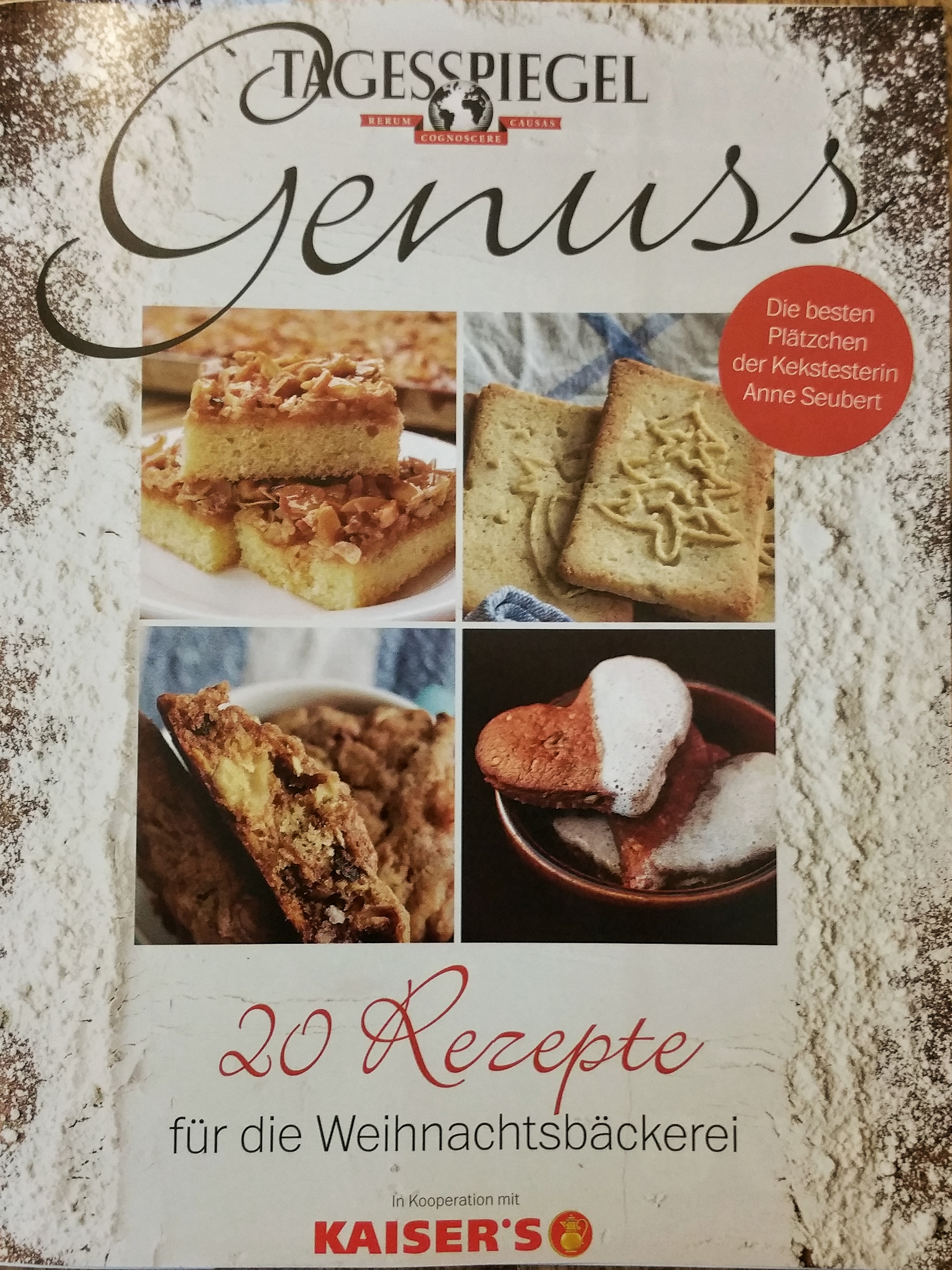 Tagesspiegel Genuss Spezial: 20 Rezepte der Kekstesterin für die Weihnachtsbäckerei